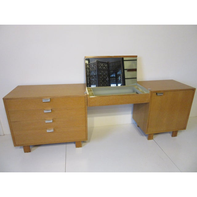 George Nelson for Herman Miller Oak 3 Pc. Vanity Chest Set For Sale - Image 13 of 13
