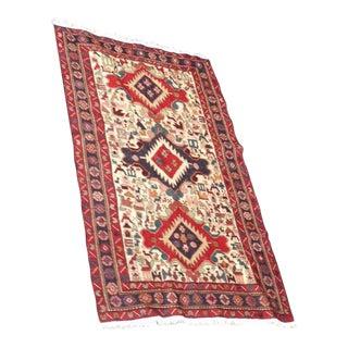 "Vintage Persian ""Sahseven"" Sumak Rug - 4′1″ × 6′6″ For Sale"