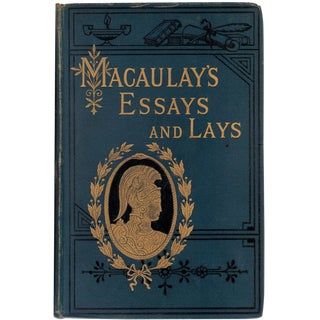 "1886 ""Lord Macaulay's Essays and Lays of Ancient Rome"" Collectible Book For Sale"