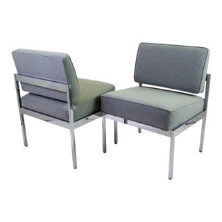 Pair 1960s Mid Century Modern Steelcase Lounge Chairs. For Sale