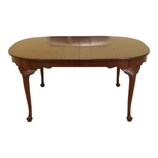 1980s Henkel Harris Oval Mahogany Dining Room Table For Sale