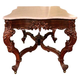 19th Century Rosewood Center Table Attributed to Joseph Meek For Sale
