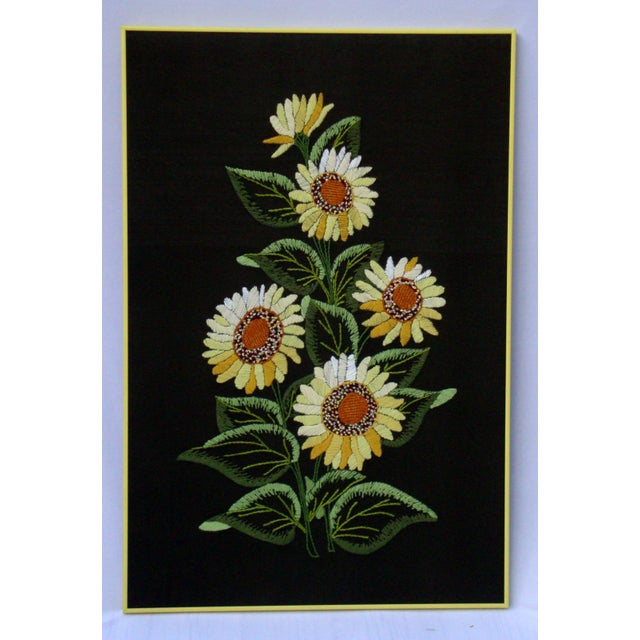 Vintage Sunflowers Original Needlepoint Art - Image 5 of 8