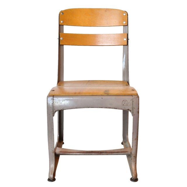 A small vintage schoolroom chair by the American Seating Company of Grand Rapids, MI. This is a nostalgic chair that will...
