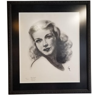1990s Ginger Rogers Limited Edition Portrait Drawing For Sale
