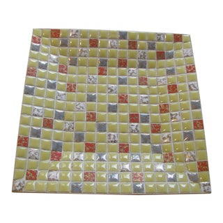 1970s Mosaic and Gold Tone Tray Designed by Ben Seibel For Sale