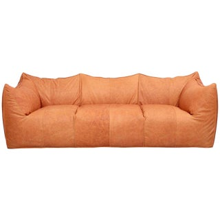 Mario Bellini Le Bambole Three-Seat in Light Tan Leather by B&b, Italia For Sale