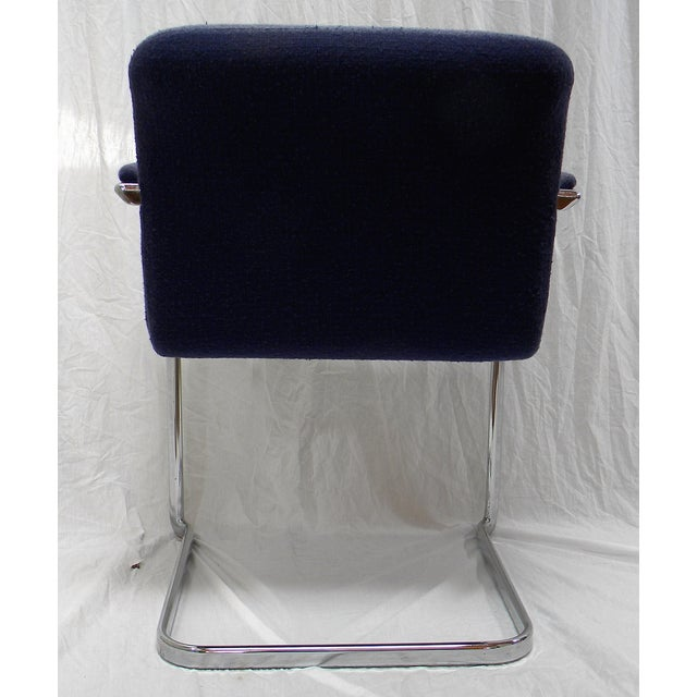 Mid-Century Modern Chrome Arm Chair For Sale - Image 5 of 6