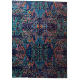 """Ikat Hand Knotted Area Rug - 8'10"""" x 12'3"""""""