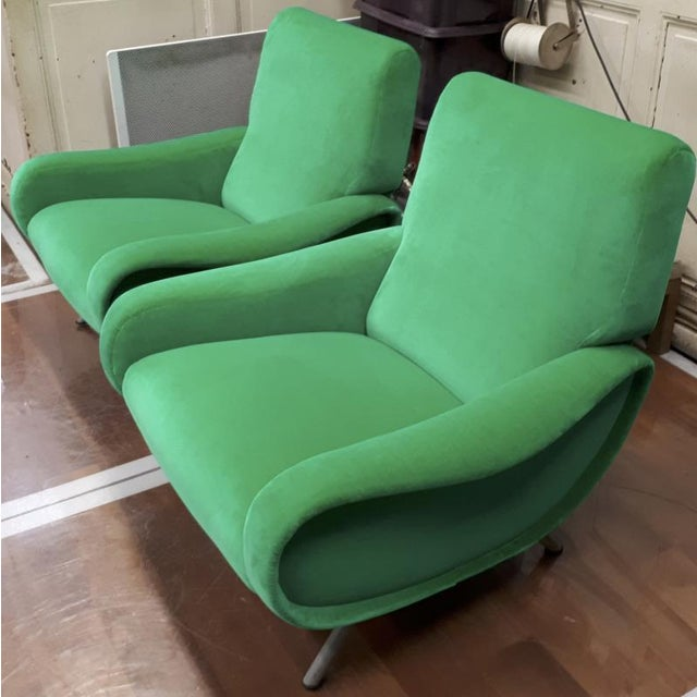 "Marco Zanuso Marco Zanuso Pair of Model ""Lady"" Arm Chair For Sale - Image 4 of 8"