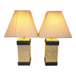 Maitland Smith Lacquered Art Deco Style Table Lamps - a Pair For Sale