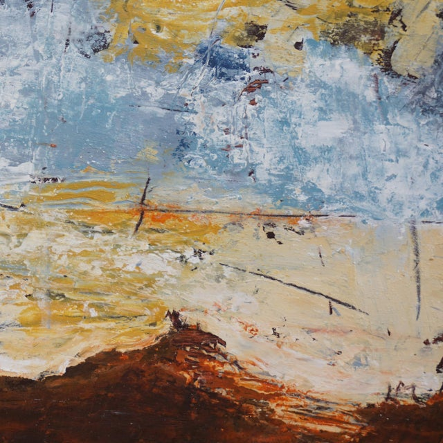 """Laurie MacMillan Laurie MacMillan """"Out of This World"""" Abstract Painting For Sale - Image 4 of 5"""