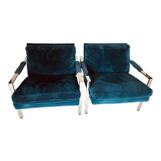 1970s Vintage Milo Baughman Chairs- A Pair For Sale