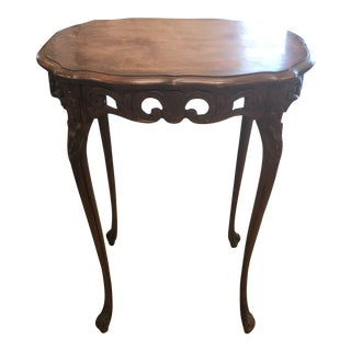 Antique French Hand Carved Mahogany Table