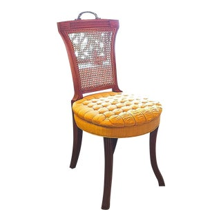 """Hickory & Co."" Tufted Golden Seat Chair"