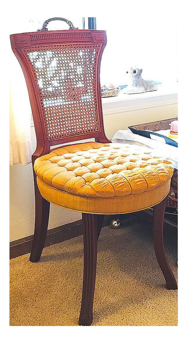 U201cHickory U0026 Co.u201d Tufted Golden Seat Chair. U201c