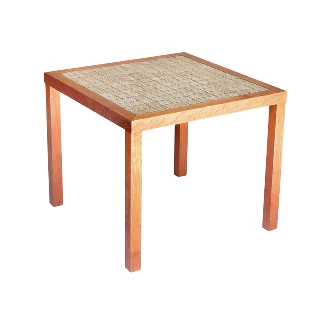 Tile top side table chairish for 12 wide side table