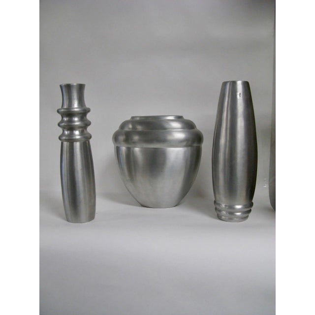 2003 Kilbarry Ireland Marquis by Waterford Pewter Vases - Set of 3 For Sale - Image 13 of 13