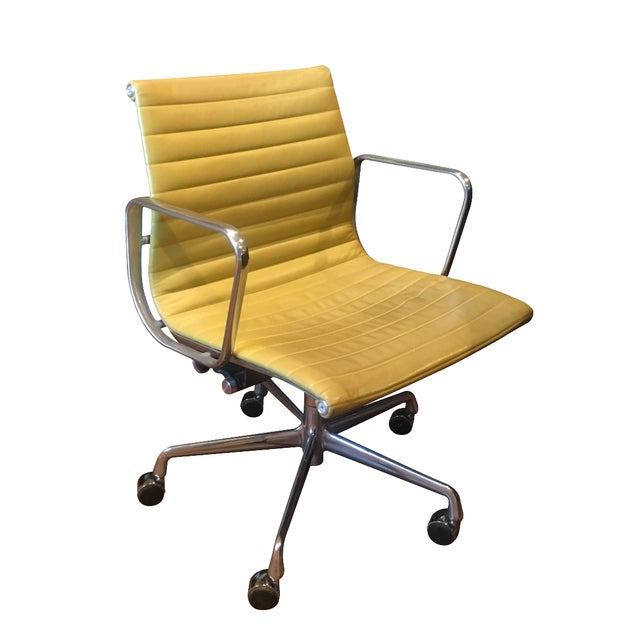 Herman Miller Eames Leather Desk Chair - Image 1 of 3