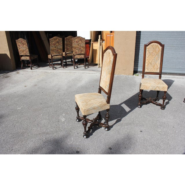 1900s Vintage French Louis XIII Style Dining Chairs - Set of 6 For Sale - Image 11 of 13