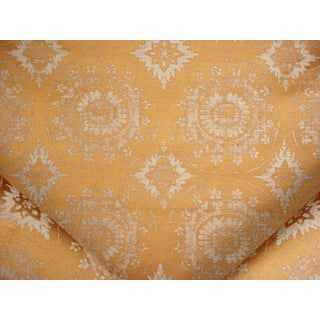 Scalamandre Mandala Curry Floral Damask Upholstery Fabric - 7 Yards For Sale