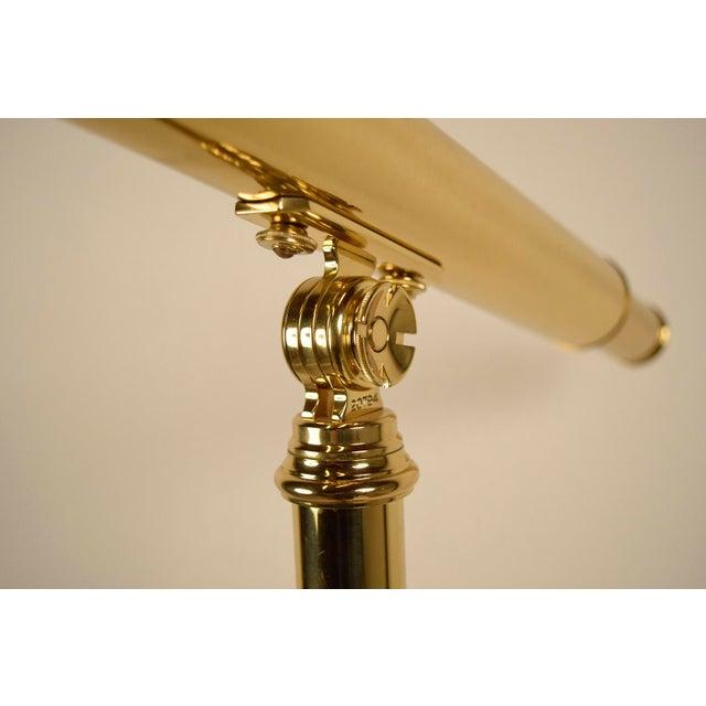 Vintage Van Cort Instrument Makers Brass Telescope For Sale - Image 4 of 6