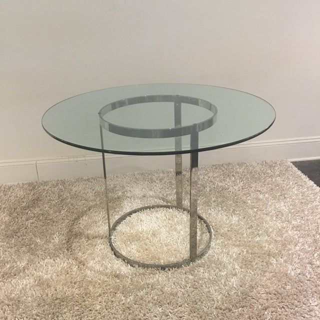 Milo Baughman for d.i.a. Glass Top Chrome Table For Sale - Image 9 of 9