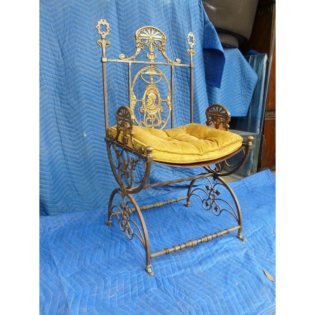 1920s Mid-Century Modern Oscar Bach Bronze and Iron Armchair For Sale - Image 5 of 7