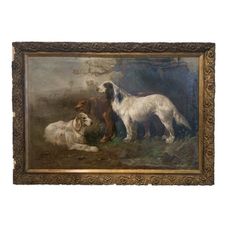 Vintage Mid-Century Dogs Henry Schouten Painting For Sale