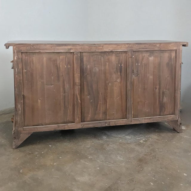 Antique Italian Baroque Inlaid Walnut Buffet For Sale - Image 9 of 13