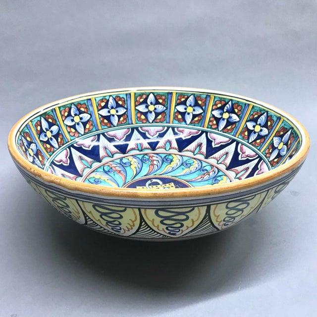Italian Italian Blue Cottura Ceramic Decorative Bowl For Sale - Image 3 of 5