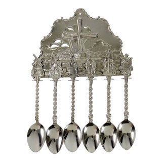 Vintage Dutch Tea Spoon Set - Set of 6 For Sale