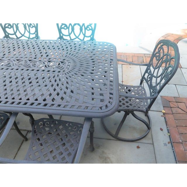 Tremendous Darlee Cast Aluminum Table Chair Patio Set Set Of 11 Home Interior And Landscaping Spoatsignezvosmurscom