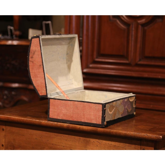 Decorative Bombe Box With 18th Century Needlepoint Tapestry by J. Lamy For Sale - Image 9 of 11