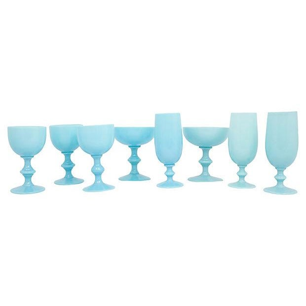 French French Opaline Stemware, S/8 For Sale - Image 3 of 7