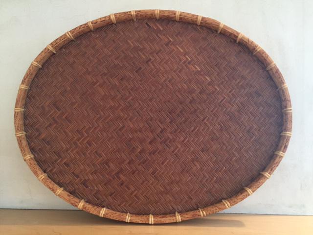 Oval Rattan U0026 Bamboo Basket Tray   Image 3 ...