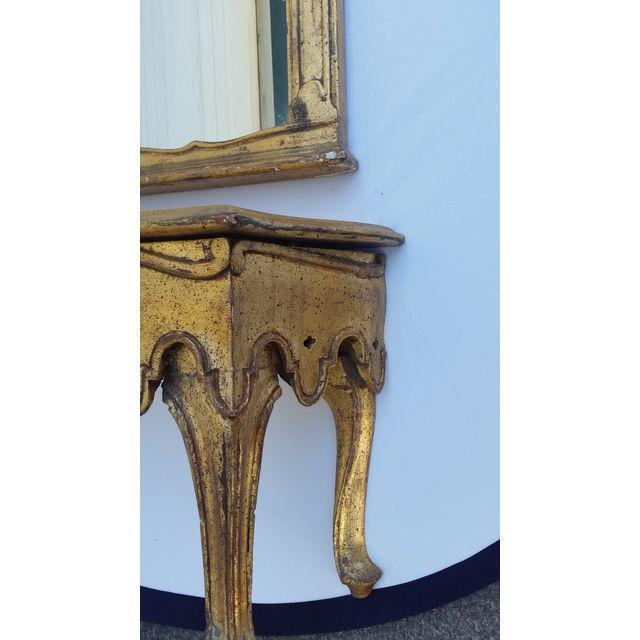 La Barge French Gold Pier Mirror & Console Table - Image 3 of 9
