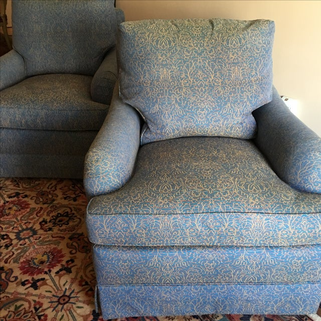 Baker Swivel Club Chairs - A Pair - Image 5 of 6