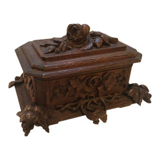 Late 19th Century Antique Black Forest Hinged Box For Sale