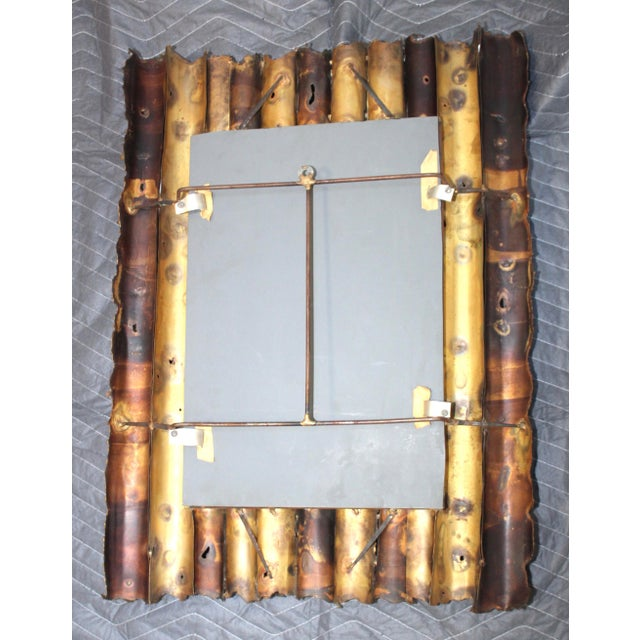 Brutalist Tom Greene Custom Made Brutalist Mirror For Sale - Image 3 of 12