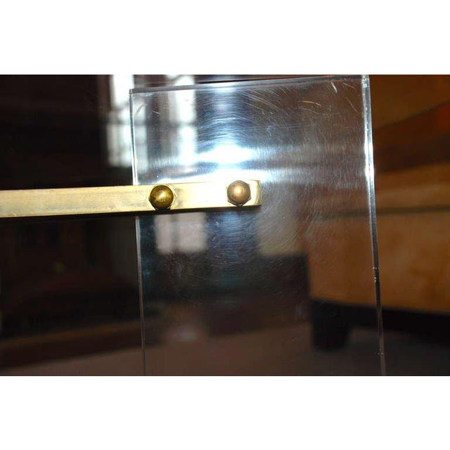 Charles Hollis Jones Brass and Lucite Coffee Table For Sale - Image 9 of 10