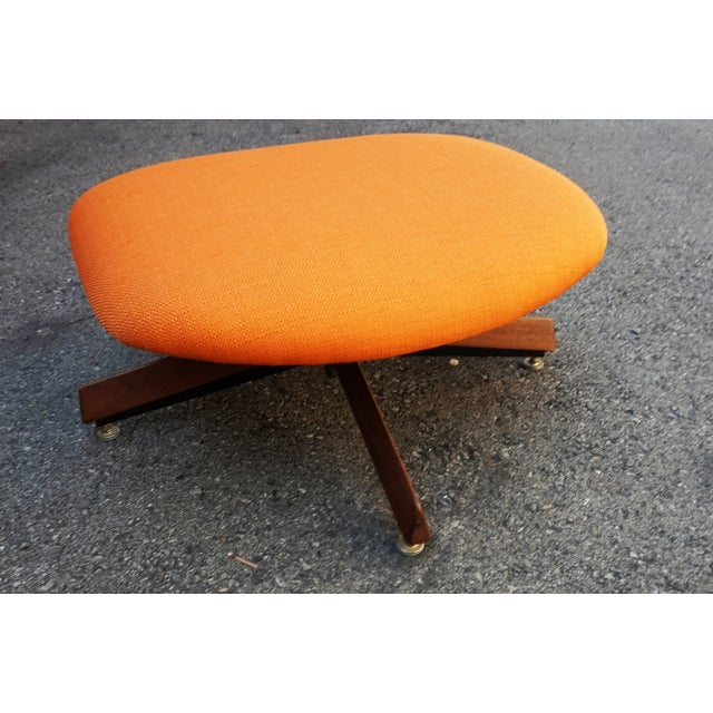 Mid-Century Modern Adrian Pearsall Swivel Chair & Ottoman For Sale - Image 3 of 10