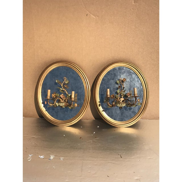 Oval Giltwood Mirrors - A Pair - Image 2 of 6