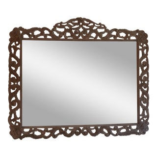 Anthropologie Hand Carved Wooden Mirror