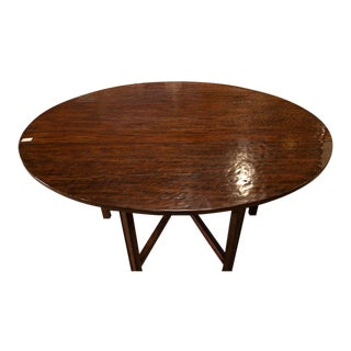 Bernhardt Oval Drop-In Leaf Dining Table For Sale
