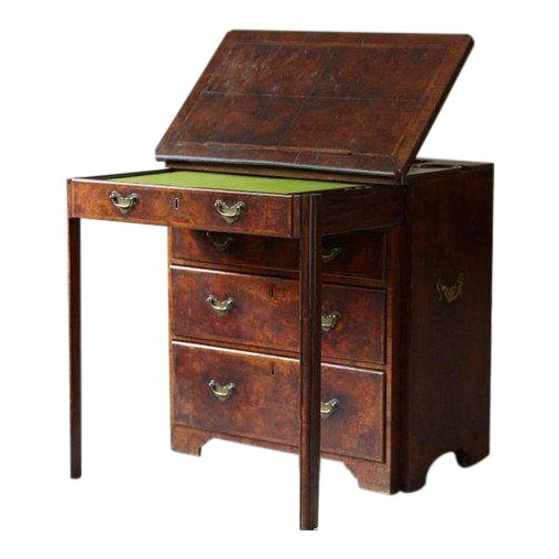 Important Queen Anne Walnut Architect's Chest, Circa 1710 For Sale