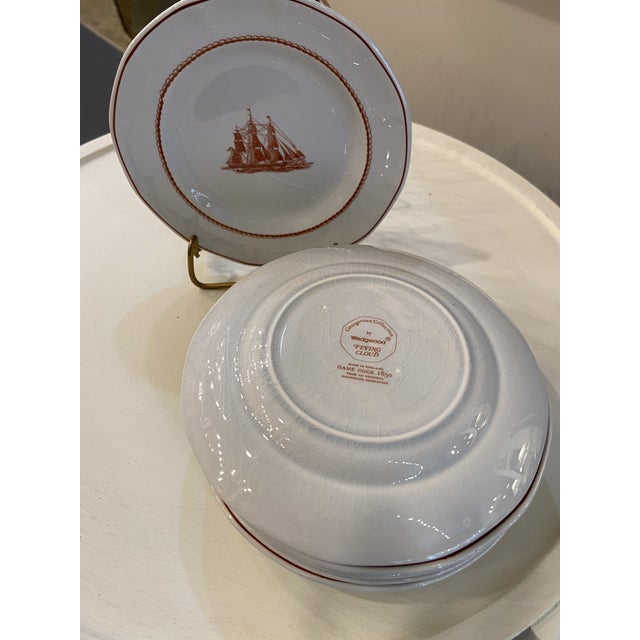 Traditional 1980s Wedgwood Flying Cloud Rust Dessert Plates- Set of 8 For Sale - Image 3 of 8