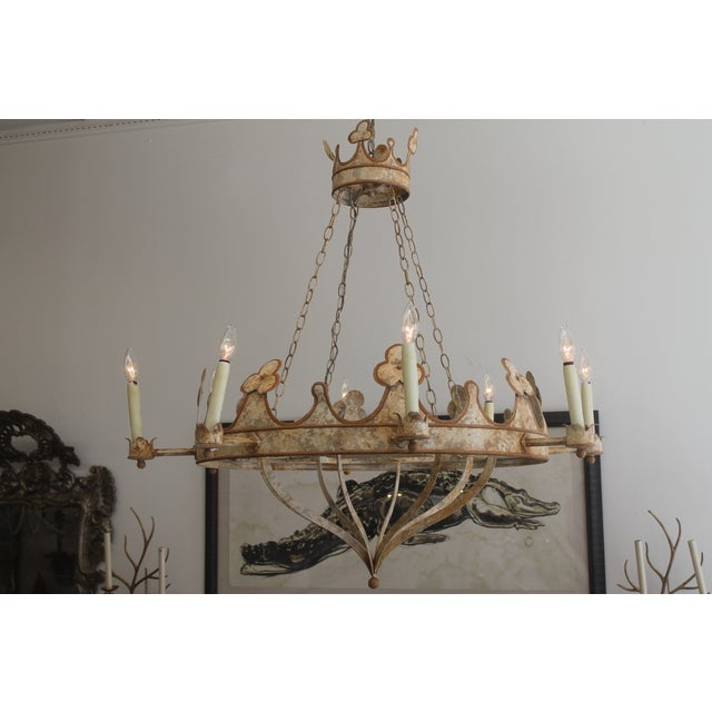 Handmade & Hand Painted Crown Chandelier - Image 2 of 6