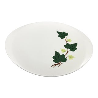 """Southern Pottery Baltic Ivy 13"""" Oval Platter For Sale"""
