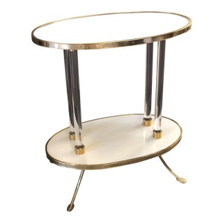 Modern Century Furniture Juliet Cigarette Table With Mirror Top For Sale